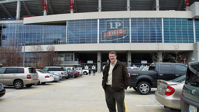Tennessee Titans' LP Field Stadium Tour March 7, 2013 - my friend Daniel Ray before the tour
