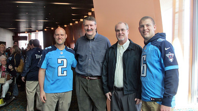 Titans Season Ticket Member Lunch Bash February 18 2014 - Titans Kickers with Daniel Ray and Russ Bradley
