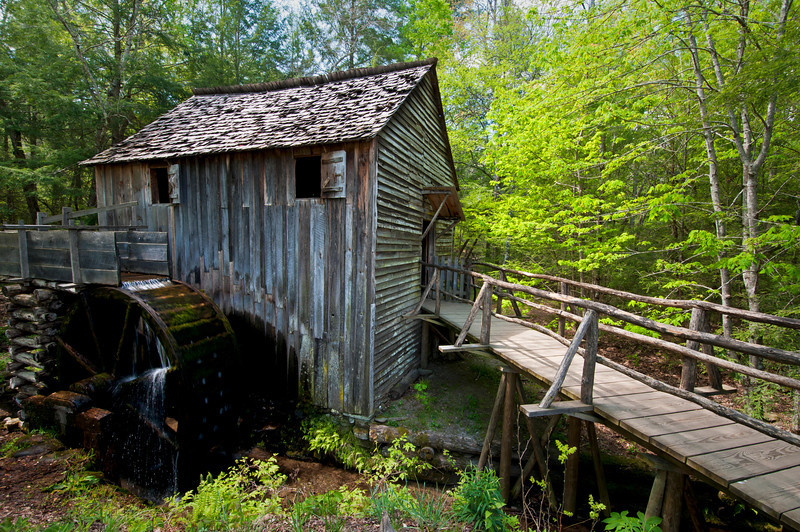 GSM 048                           <br /> Built in 1867, the John Cable Grist Mill still operates today at Cades Cove in Great Smoky Mountains National Park, Tennessee.