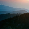 GSM 029                        <br /> Sunset over the Smoky Mountains viewed from Clingman's Dome in Great Smoky Mountains National Park.