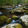 GSM 027                        <br />  Huge boulders litter the streambed of Sam's Creek, Great Smoky Mountains National Park, Tennessee.