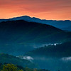 GSM 002                    <br /> Dawn in the Smoky Mountains as the first light begins to penetrate the valley below an overlook along Foothills Parkway just outside Townsend, Tennessee.