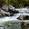 GSM 008                     <br /> Large boulders create a section of rapids along the Middle Prong of the Little River in Great Smoky Mountains National Park.