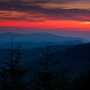 GSM 033                        <br /> Sunset over the Smoky Mountains viewed from Clingman's Dome in Great Smoky Mountains National Park.