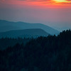GSM 031                        <br /> Sunset over the Smoky Mountains viewed from Clingman's Dome in Great Smoky Mountains National Park.