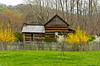 The builidngs of the Mountain Farm Museum at the Ocunaluftee Visitors Center, The Great Smoky Mountains National Park, USA.