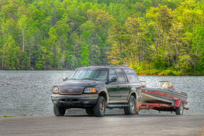 People use a public boat ramp at Watauga Lake near Butler, TN on Monday, April 23, 2012. Copyright 2012 Jason Barnette