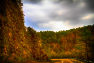On the Road in the Fall in Tennessee