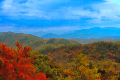 Smoky Mountain Fade into Distance Graphic