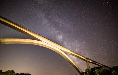 Milky Way over the Natchez Trace Bridge