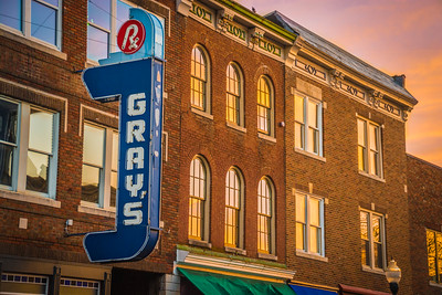 Sunrise in Downtown Franklin, Tennessee
