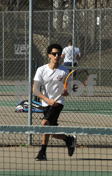 NBHS BOYS TENNIS VS HALL 4-23-18