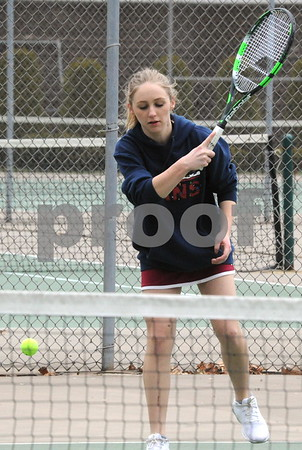 NBHS GIRLS TENNIS VS BERLIN 4-17-18