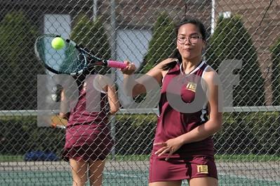 NBHS GIRLS TENNIS VS SOUTHINGTON 4-23-19