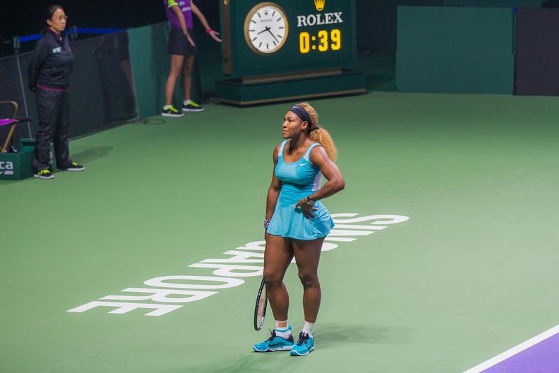 Bemused Serena