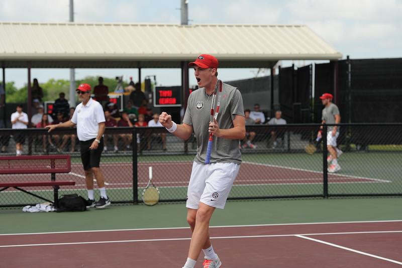 Paul Oosterbaan  -  UGA Men's Tennis Team -  (Photo from Georgia Sports Communication)