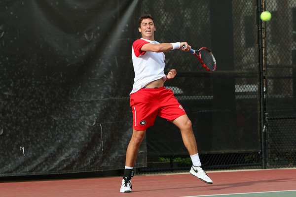 UGA men's tennis player Emil Reinberg