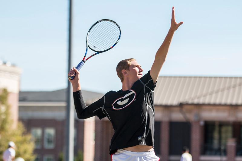 Robert Loeb - Georgia men's tennis team (Photo by John Paul Van Wert / Georgia Sports Communications)