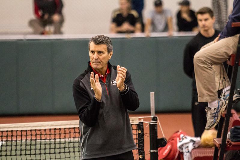 UGA Men's Tennis Head Coach Manuel Diaz  (Photo by John Paul Van Wert/Georgia Sports Communication)
