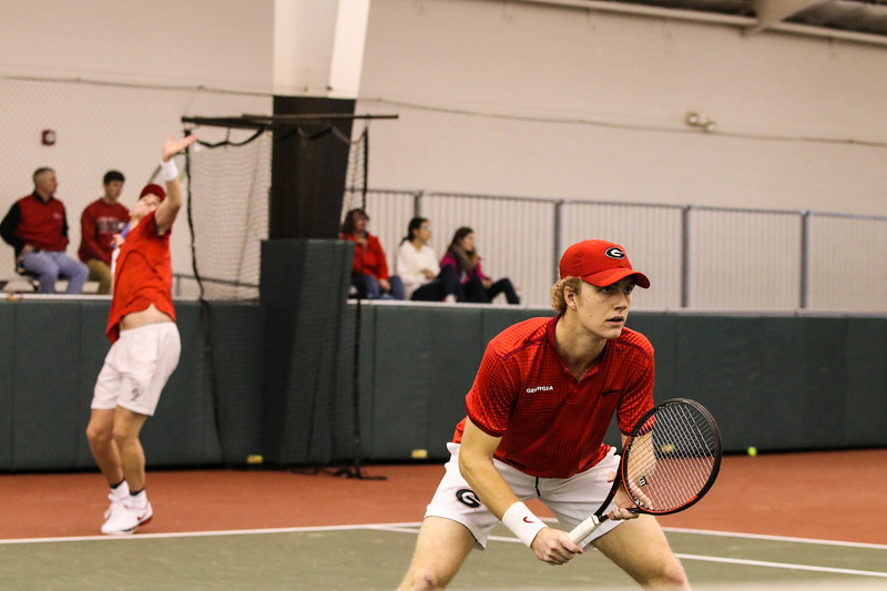 Georgia's Walker Duncan during the Bulldogs' match against Washington at Dan Magill Tennis Complex on Sunday, Jan. 29, 2017 (Photo by Cory A. Cole / Georgia Sports Communications)