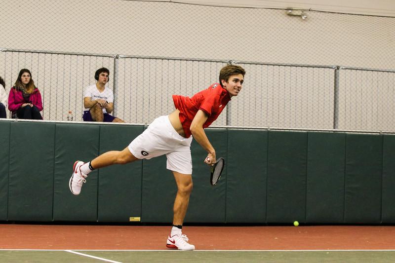 Nathan Ponwith - Georgia men's tennis team (Photo by Cory A. Cole / Georgia Sports Communications)