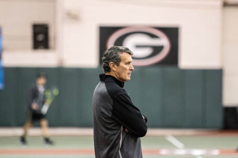 Manuel Diaz - Head Coach - UGA men's tennis team (Photo by John Paul Van Wert /Georgia Sports Communications)