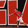 Georgia's Walker Montgomery during the Bulldogs' match against LSU at the Dan Magill Tennis Complex on Thursday, March 23, 2017. (Photo by Cory A. Cole)