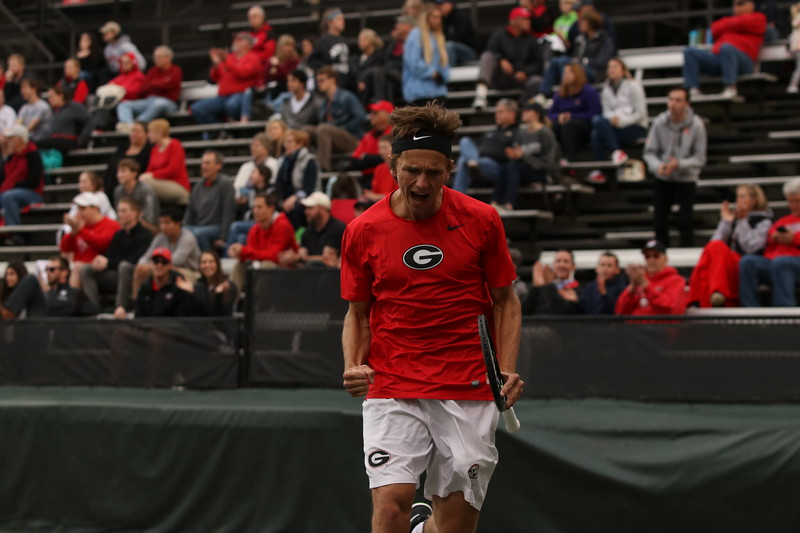 Nathan Ponwith  - UGA men's tennis team (Photo by Cory A. Cole)