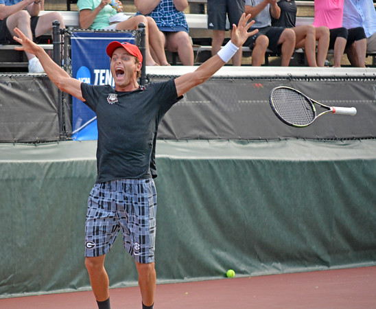 Wayne Montgomery UGA Men's Tennis  (Photo by Steven Colquitt / Georgia Sports Communication)