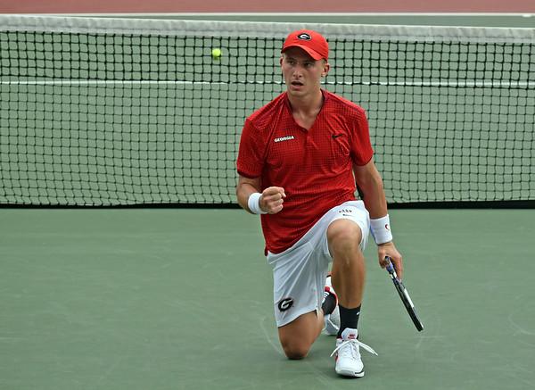 Jan Zielinski  -  UGA Men's Tennis Team -  (Photo by Steven Colquitt / Georgia Sports Communication)