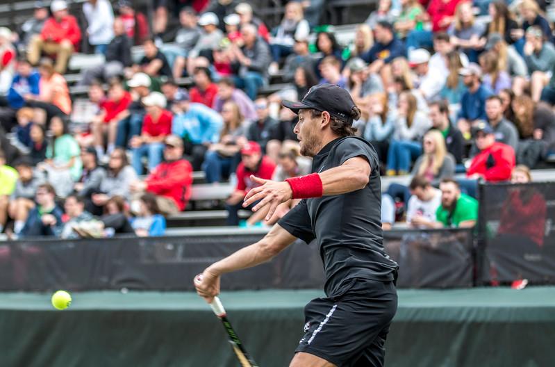 Wayne Montgomery -  UGA men's tennis team (Photo by John Paul Van Wert)