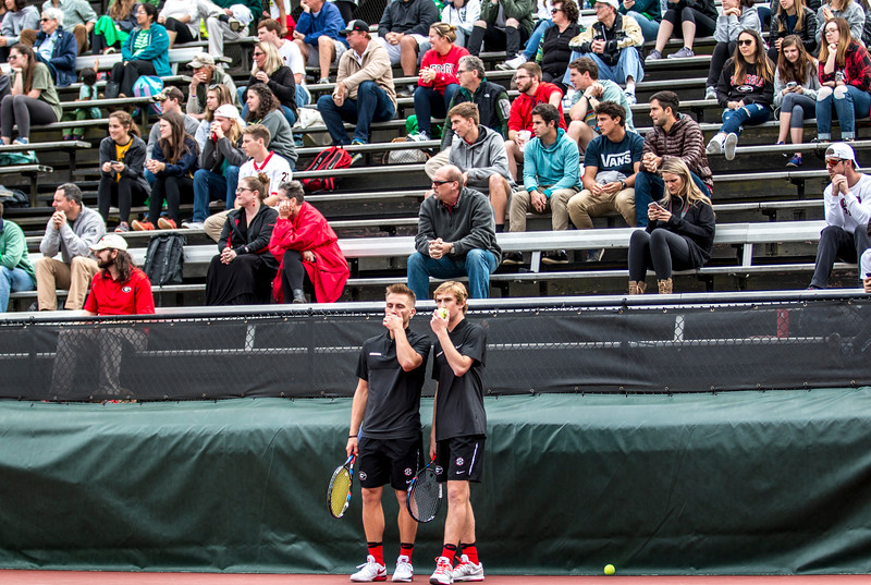 Robert Loeb and Jan Zielinski - UGA men's tennis team (Photo by John Paul Van Wert / Georgia Sports Communication)