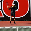 Georgia's Nathan Ponwith during the match against Vanderbilt at the Dan Magill Tennis Complex in Athens, Ga., on Friday, April 13, 2018. (Photo by Steffenie Burns)