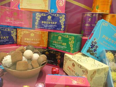 かわいいパッケージにつられて、つい買ってしまうPRESTATのチョコ  http://www.prestat.co.uk/