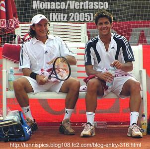 Monaco/Verdasco (doubles, Kitzbuhel 2005) http://tennispics.blog108.fc2.com/blog-entry-316.html