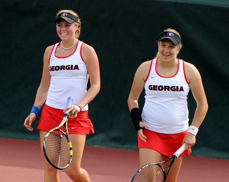 Mariana Gould and Ellen Perez - Georgia women's tennis team (Photo by John Kelley / Georgia Sports Communications)