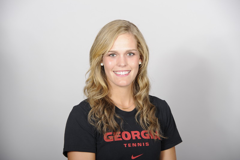 Caroline Brinson - UGA women's tennis team (Photo from Georgia Sports Communication)