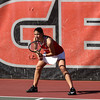 Georgia's Elena Christofi during the Bulldogs' match against Georgia Tech at Dan Magill Tennis Complex on Friday, February 24, 2017. (Photo by Cory A. Cole)