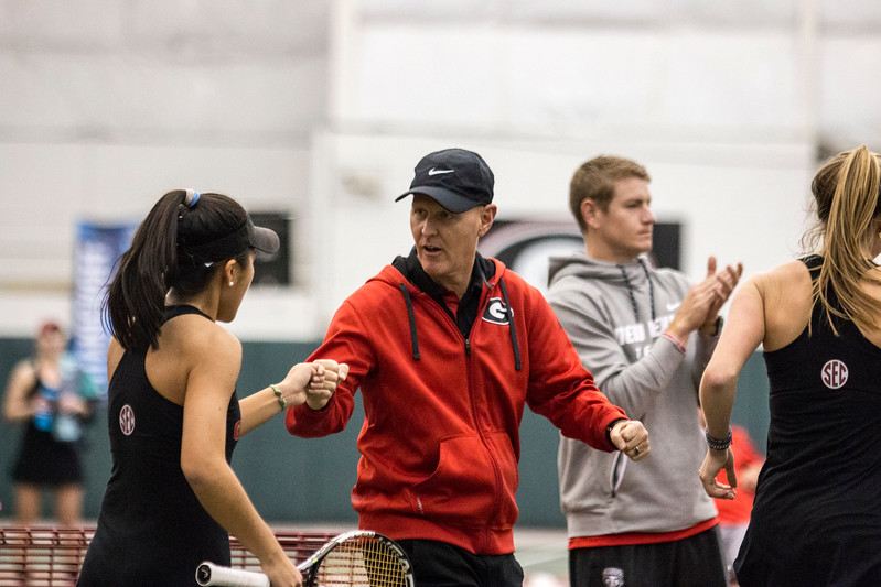 UGA Women's Tennis Head Coach Jeff Wallace  (Photo by John Paul Van Wert/Georgia Sports Communication)