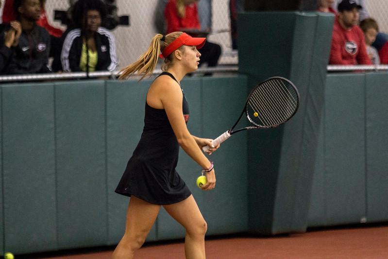 Ellen Perez - Georgia women's tennis team (Photo by John Paul Van Wert / Georgia Sports Communications)