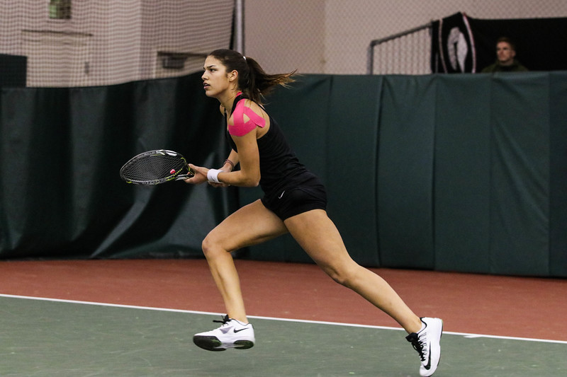 Elena Christofi University of Georgia women's tennis team During the Bulldogs' match against Illinois at Dan Magill Tennis Complex on Sunday, Jan. 29, 2017. (Photo by Cory A. Cole / Georgia Sports Communications)
