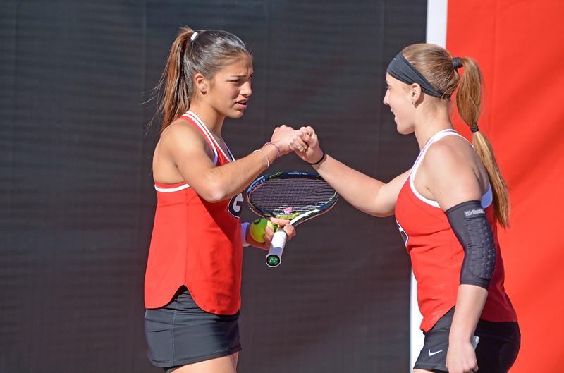 Georgia's Elena Christofi and Kennedy Shaffer - UGA women's tennis team (Photo by Steven Colquitt / Georgia Sports Communication)