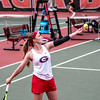 Georgia's Kennedy Shaffer during the Bulldogs' match with Mercer at the Dan Magill Tennis Complex in Athens, Ga., on Wednesday, Feb. 22, 2017. (Photo by John Paul Van Wert)