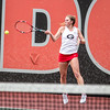 Georgia's Mariana Gould during the Bulldogs' match with Mercer at the Dan Magill Tennis Complex in Athens, Ga., on Wednesday, Feb. 22, 2017. (Photo by John Paul Van Wert)