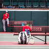 Georgia benches during the Bulldogs' match with Mercer at the Dan Magill Tennis Complex in Athens, Ga., on Wednesday, Feb. 22, 2017. (Photo by John Paul Van Wert)