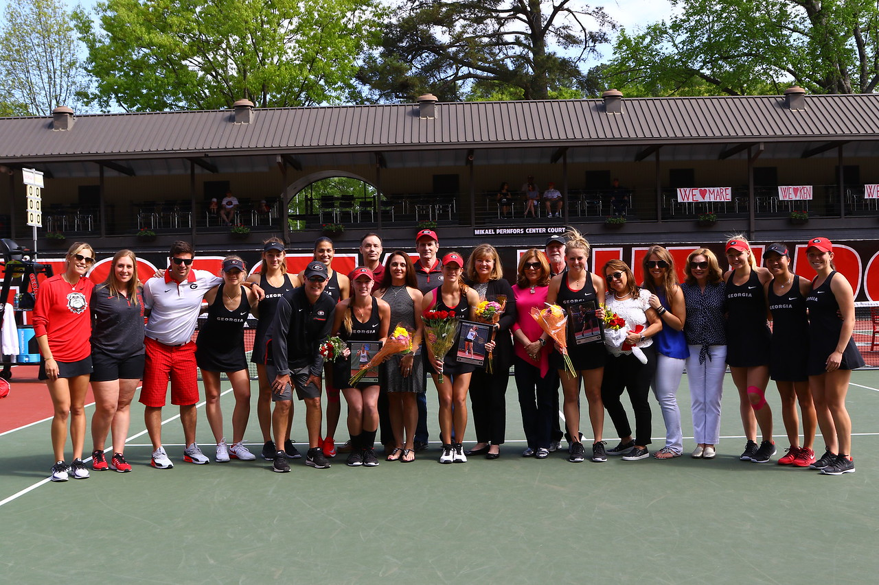 2018 UGA Women's Tennis Senior Day Photo: Georgia Sports Communication