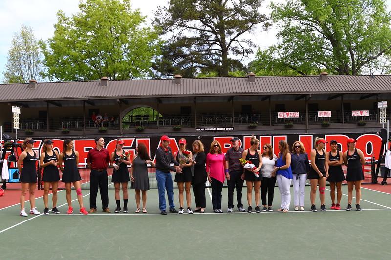 2018 UGA Women's Tennis Senior Day --- Photo: Georgia Sports Communications