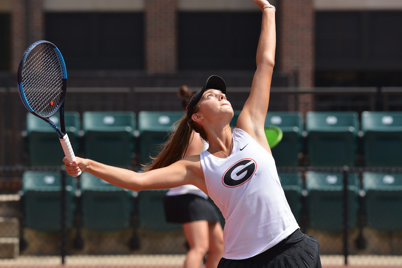 Georgia's Katarina Jokic during the round-robin fall tournament at Henry Feild Stadium in Athens, Ga., on Friday, Sept. 15, 2017. (Photo by Steven Colquitt)