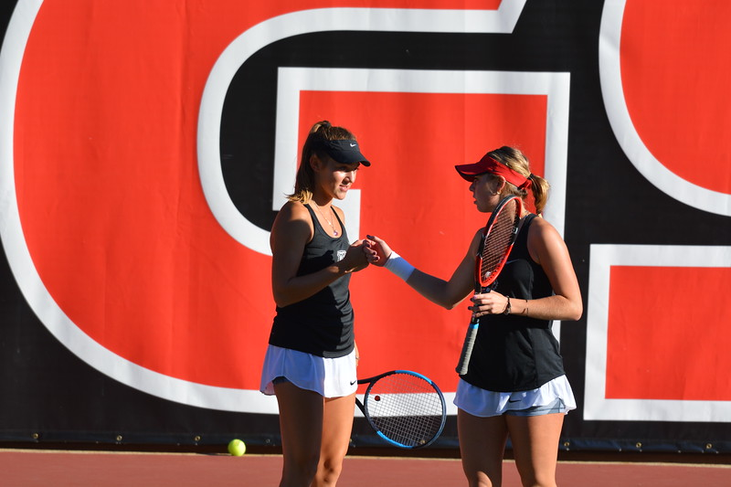 Katarina Jokic and Mariana Gould  - Georgia Women's Tennis Team -  (Photo by Steven Colquitt / Georgia Sports Communication)