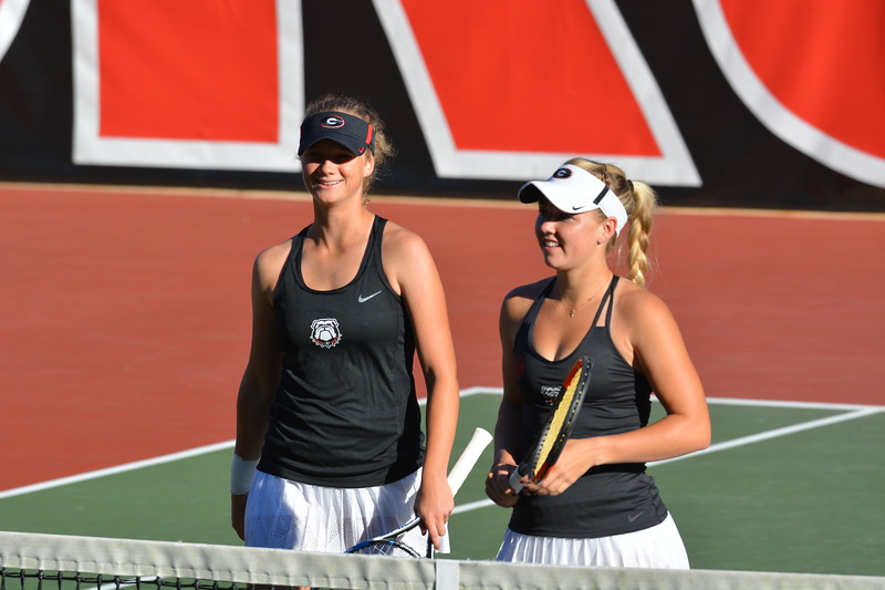 Georgia's Vivian Wolff and Morgan Coppoc ITA Southeast Regional Championships Dan Magill Tennis Complex Athens, GA, Fri., Oct. 20, 2017 (Photo by Steven Colquitt / Georgia Sports Communication)